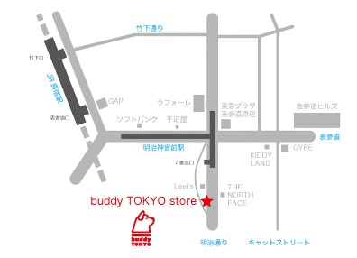 buddy tokyo map